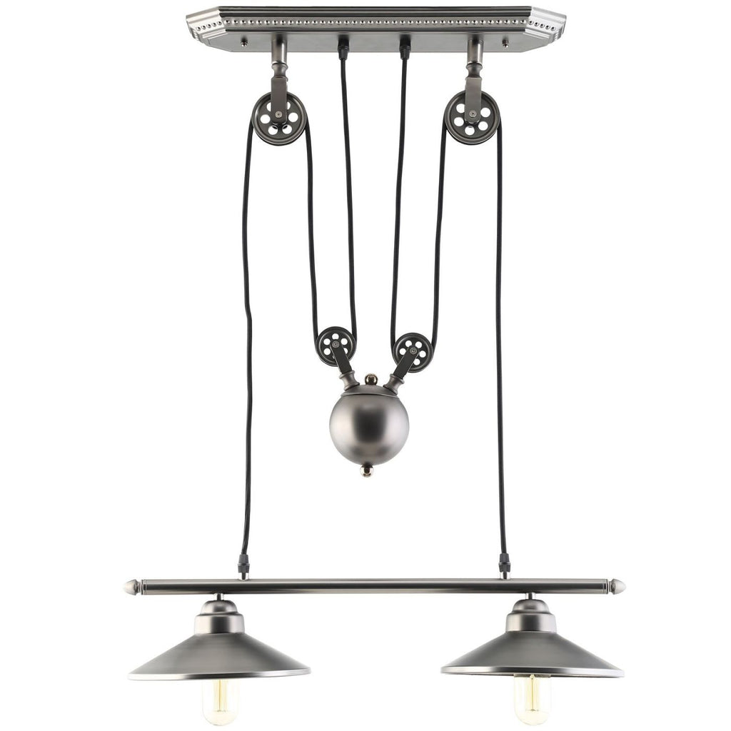 Innovateous Industrial Modern Ceiling Fixture Silver Lamp