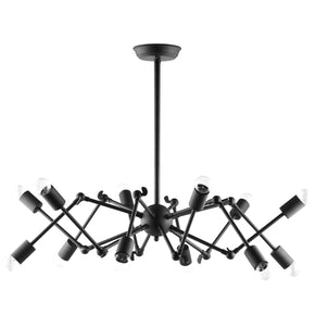Tagmata Industrial Modern Ceiling Pendant Powder-Coated Black Steel Lamp