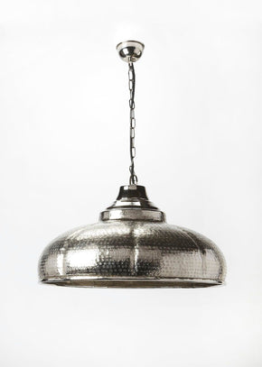 Transitional 1 Lt. Pendant Silver Ceiling Lamp
