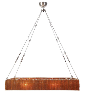 Clarice Pendant Lamp Amber Iron Glass Ceiling
