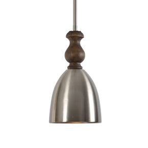 Luna 1 Light Aluminum Mini Pendant Ceiling Lamp