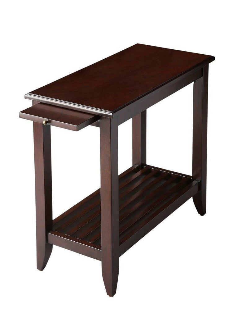 Irvine Transitional Rectangular Chairside Table Dark Brown Chest