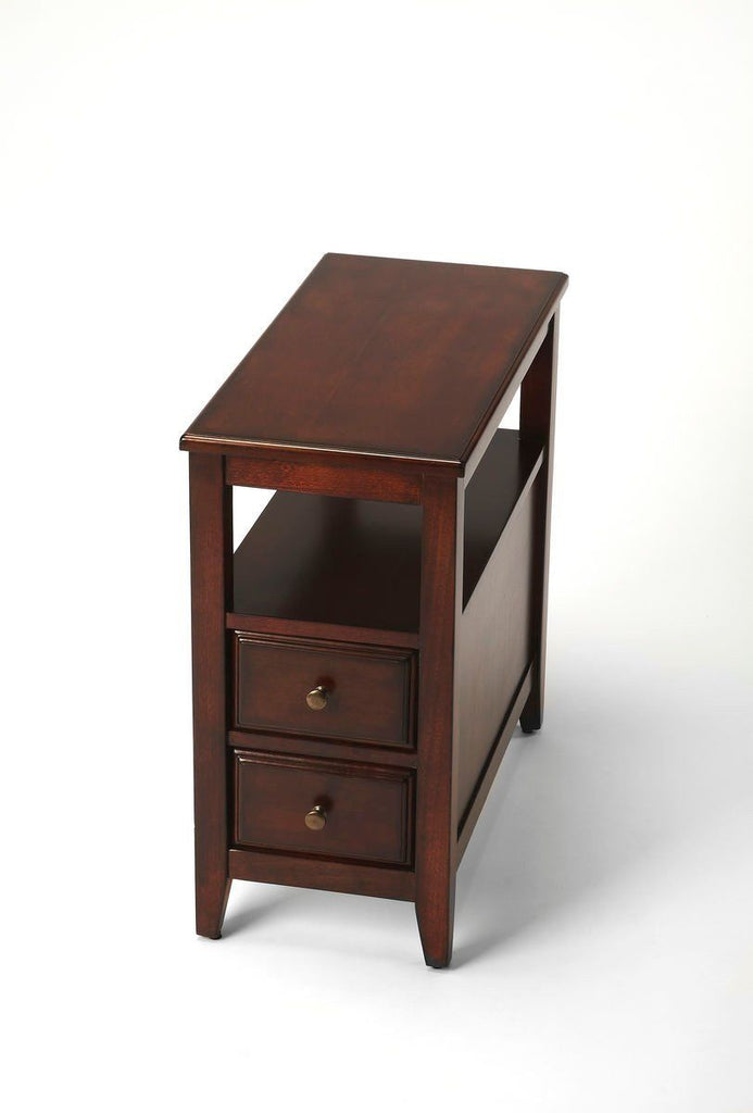 Marcus Transitional Rectangular Chairside Table Dark Brown Chest