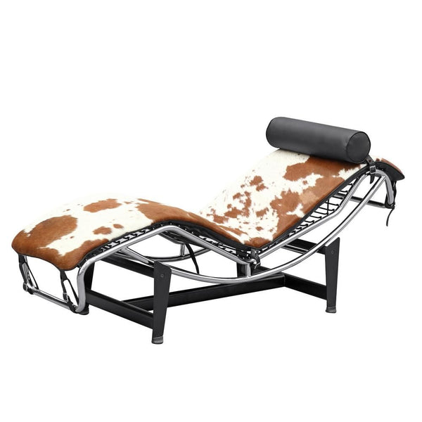 Adjustable Chaise In Pony Brown And White Lounge
