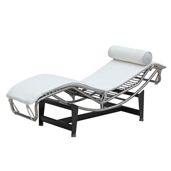 Adjustable Chaise White Lounge