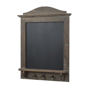 Message Board With Coat Hooks Old English Wood Chalkboard