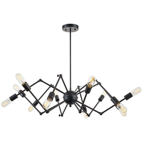 Chandeliers - EdgeMod LS-C111-BLK Arachnid Chandelier in Black | 641061723158 | Only $206.50. Buy today at http://www.contemporaryfurniturewarehouse.com