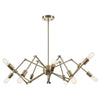 Arachnid Chandelier in Brass