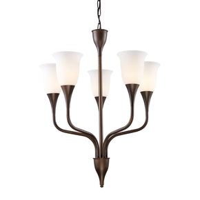 Cabaret 5-Light Chandelier In Aged Bronze
