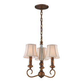 Crestview 3-Light Chandelier In Spanish Bronze**