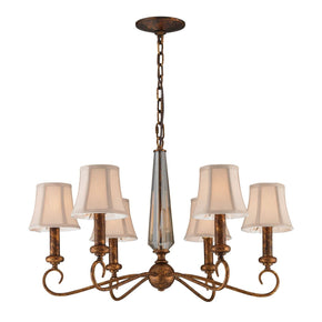 Crestview 6-Light Chandelier In Spanish Bronze**