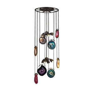 Gallery 8 Light Chandelier In Oil Rubbed Bronze And Brushed Slate Bronze,brushed