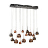 Nexion 15 Light Chandelier In Black Chrome - Large Black Chrome