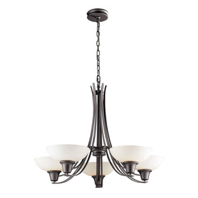 Franklin Creek 5-Light Chandelier In Graphite**