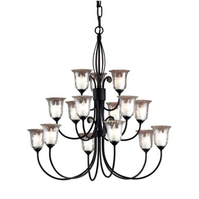 Savannah Collection Matte Black Finish Chandelier