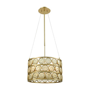 Signet Chandelier - Small Light Amber Smoke,gold