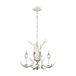 Big Sky 3 Light Chandelier White