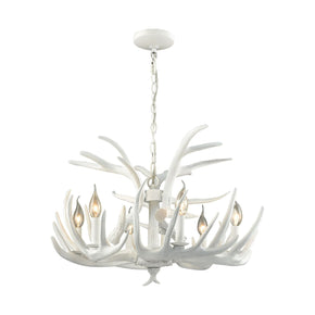 Big Sky 6 Light Chandelier White