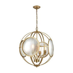 Le Style Metro Chandelier Gold,antique Mercury