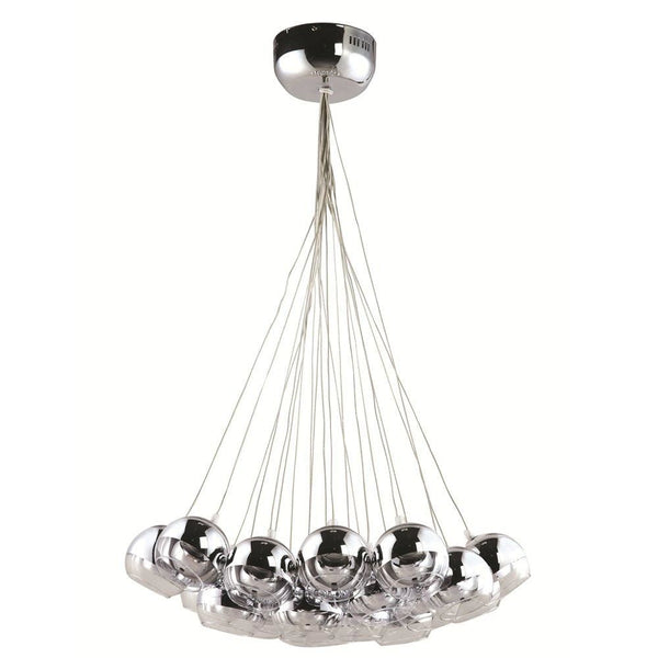Cup Hanging Chandelier Silver