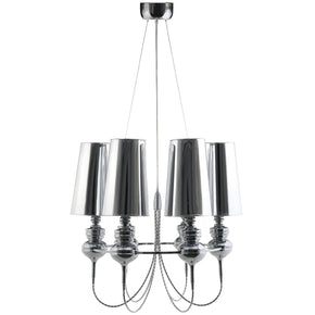 Tapestry Stainless Steel Chandelier Silver