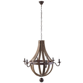 Ballista Vintage Modern Chandelier Antique Brass