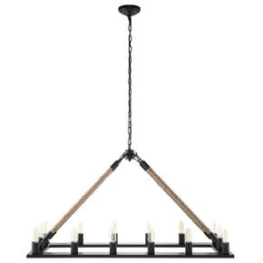 Bridge Industrial Modern Chandelier Black