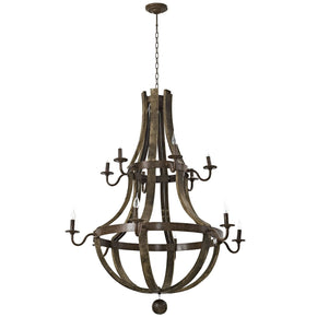 Trebuchet Industrial Modern Chandelier Brown