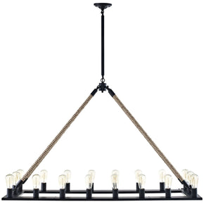 Bridge Industrial Modern Chandelier Brown