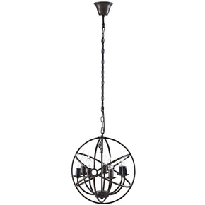 Atom Chandelier Brown