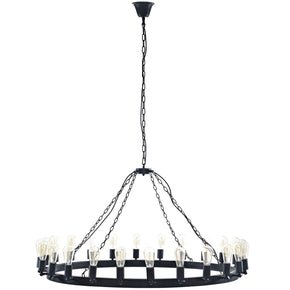 "Chandeliers - Modway EEI-2118-BRN Teleport Industrial Modern 52"" Round Chandelier 