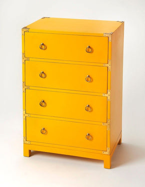 Ardennes Modern Rectangular Accent Chest Yellow
