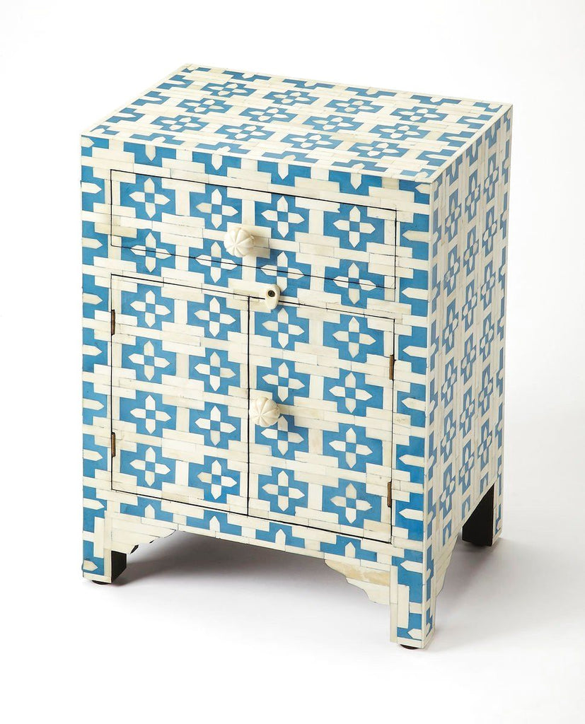 Buy Butler Furniture BUT 3884319 Silvana Transitional Rectangular Bone  Inlay Accent Chest Blue At Contemporary Furniture Warehouse