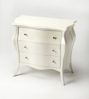 Francine Transitional Bombe Chest White