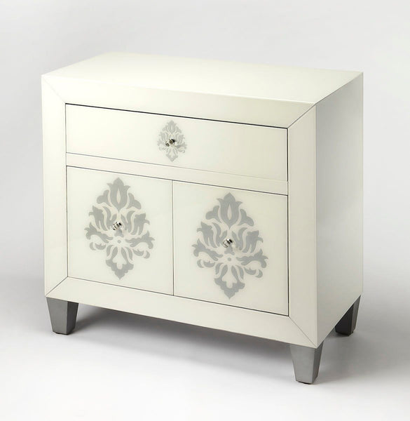 Olana Modern Rectangular Chest White