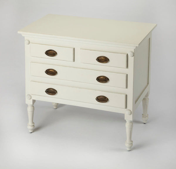 Easterbrook Traditional Rectangular Drawer Chest White