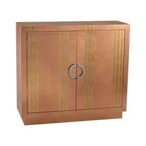 Gold Stripe Copper Cabinet Chest