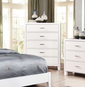 Wolson Contemporary 5-Drawer Chest In White