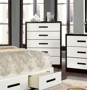 Burlings Modern 5-Drawer Chest In Black And White