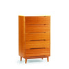 Currant Five Drawer Chest Bamboo Carmalized
