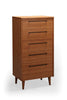 Sienna Five Drawer Chest Bamboo Carmalized