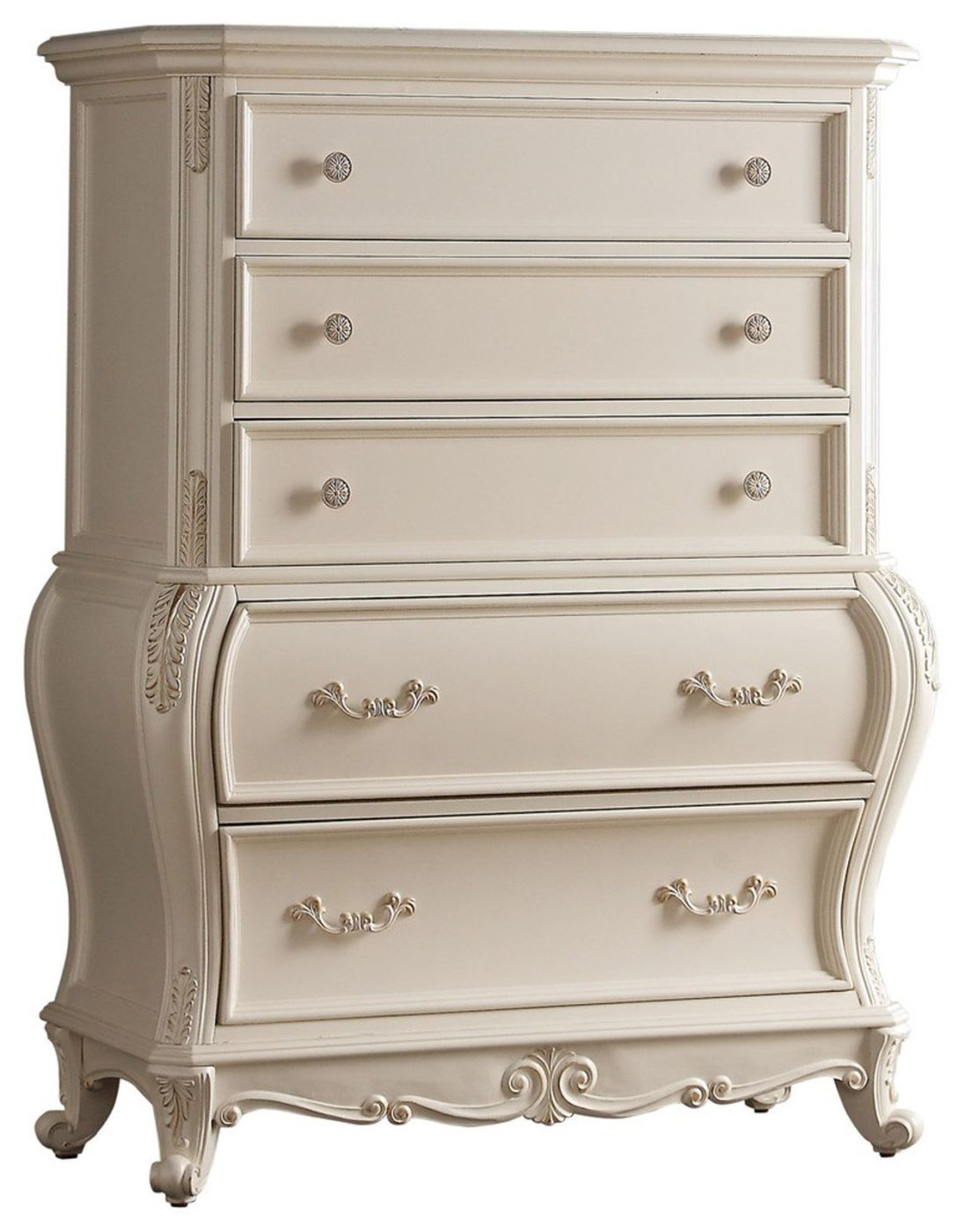 Marquee Pearl White Chest By Meridian Marquee Ch