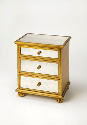 Grable Transitional Rectangular Accent Chest Gold