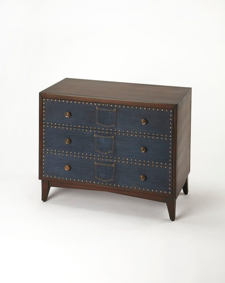 Butler furniture lindor modern console chest multi color for Contemporary furniture warehouse
