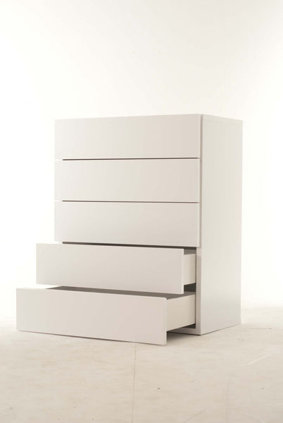 Float Chest Of 5 Drawers (Assembled) Pure White