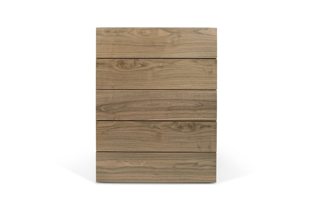 Float Chest Of 5 Drawers (Assembled) Walnut