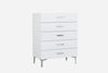 Diva Chest Of Drawer High Gloss White
