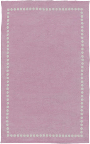 Abigail Solids And Borders Area Rug Pink