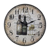 Wine Bottles Wall Clock Tan,black,brown