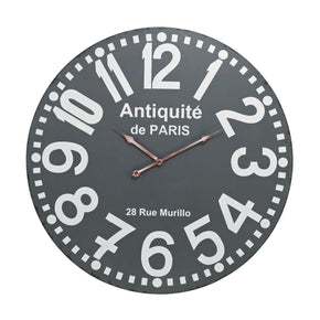Antique Wall Clock Grey